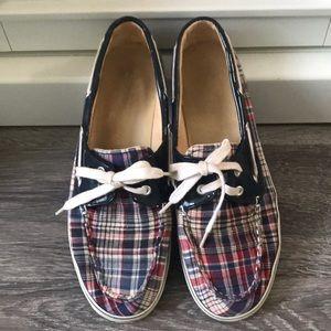 Dexter plaid slip on boat shoes size 8 1/2